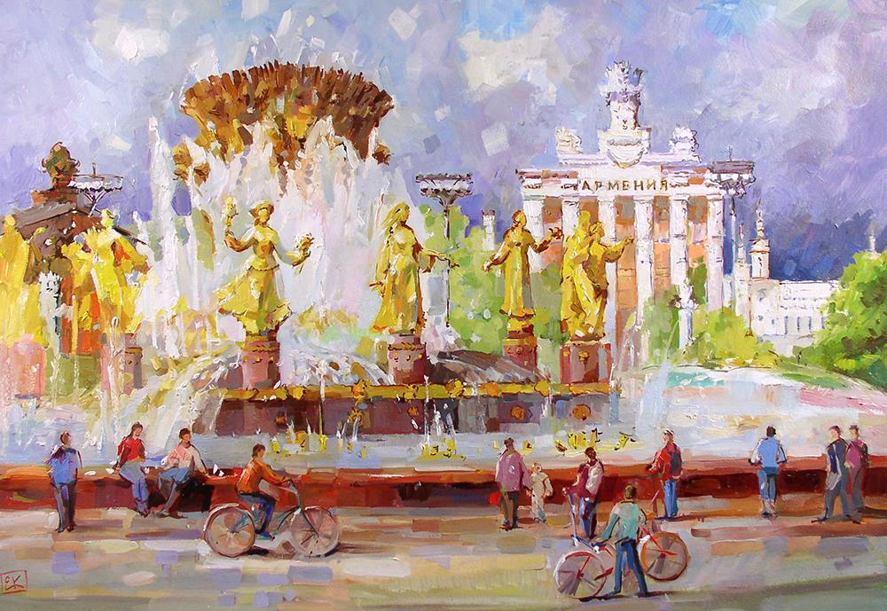 Городской пейзаж Евгения Корнеева Новые Передвижники